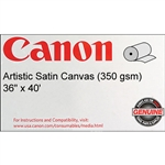 Artistic Satin Canvas 36 X40 350 GSM ROLL