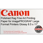 Canon Polished Rag 8.5 X 11  300 GSM 25 SHEETS/BOX