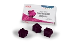 Genuine Xerox Solid Ink 8400 Magenta (Three Sticks)