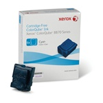 Xerox Colorqube Ink Cyan, Colorqube 8870 (6 Sticks),  17,300 Capacity