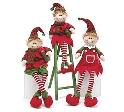 "12"" DECOR JINGLE ELVES (Set of 3)"