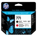 PRINTHEAD,HP771,MATTE BLACK/RED