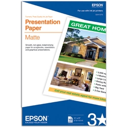 EPSON Singleweight Presentation  Matte Paper 11 X17 Sheets 100 pack