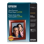 EPSON Ultra Premium Photo Paper Luster, Letter Size, 50 sheets