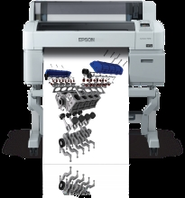 Epson SureColor T-Series 3270 Single Roll 24-Inch Printer With 5 inks and 1 Year Warranty,  Model SCT3270SR and Instant Rebate